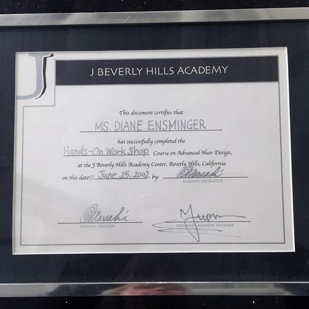 J Beverly Hills Cert