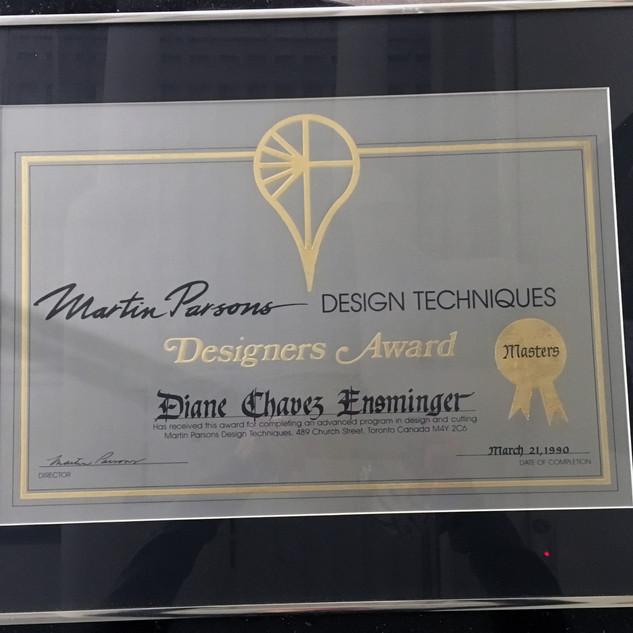Martin Parsons Designer's Award
