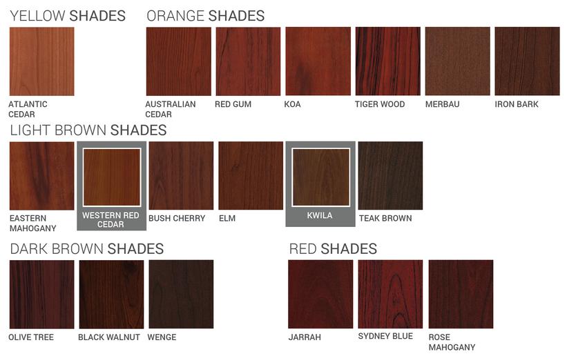 Wood Cladding Shades 1
