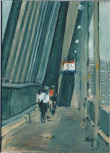 'Birdies' 2011, oil on  canvas board, 12