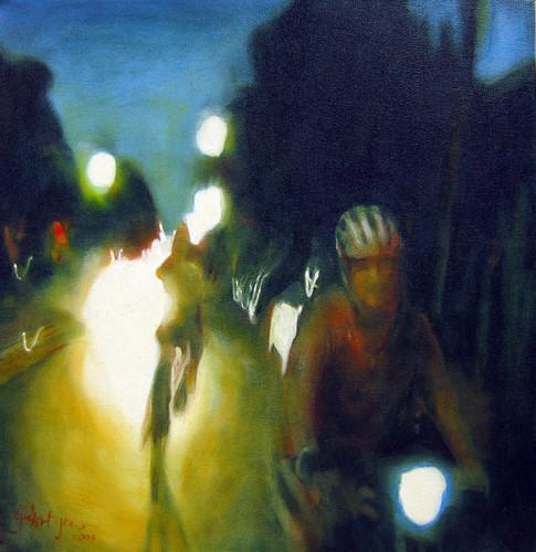 'Vivid in Redfern' 2009, oil on cotton,