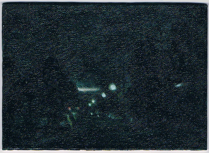 'Denison Rd - Twilight' 2011, oil on can