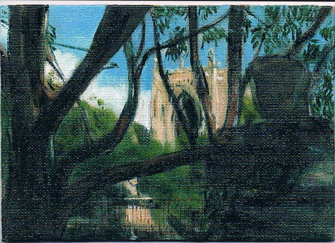 'Cooks River Anglican' 2011 oil on canva
