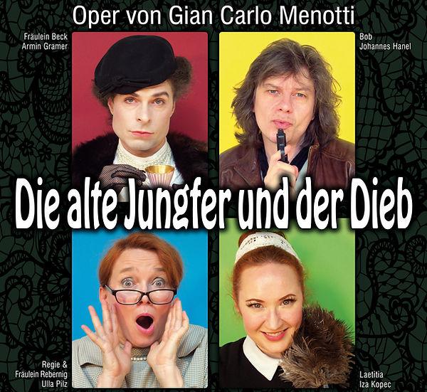 Die alte Jungfer und der Dieb, Gian Carlo Menotti, Ulla Piz, Iza Kopec, Nana Masutani, Armin Gramer, Johannes Hanel