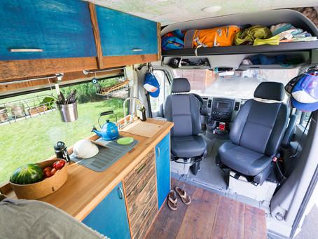 Sprinter Van Add-ons: Roof Rack, Ladder, Swivels, Cab Shelf