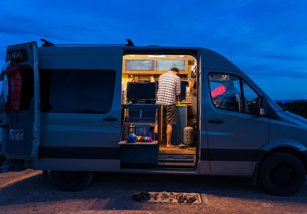 Solar Powered Sprinter Van Conversion