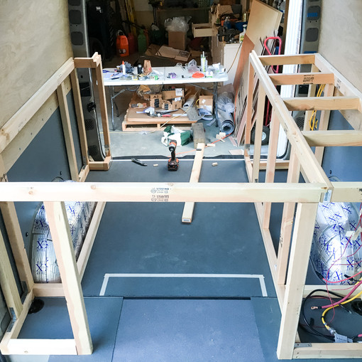 Sprinter Van Bed Construction