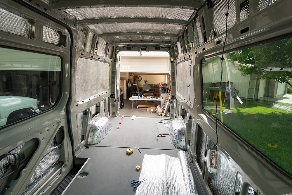 Sprinter Van Buildout: Insulation