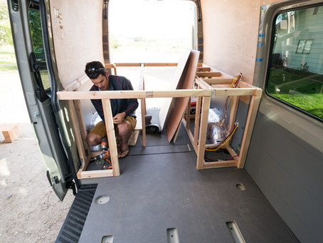 Building a Bed Frame for your Sprinter Van