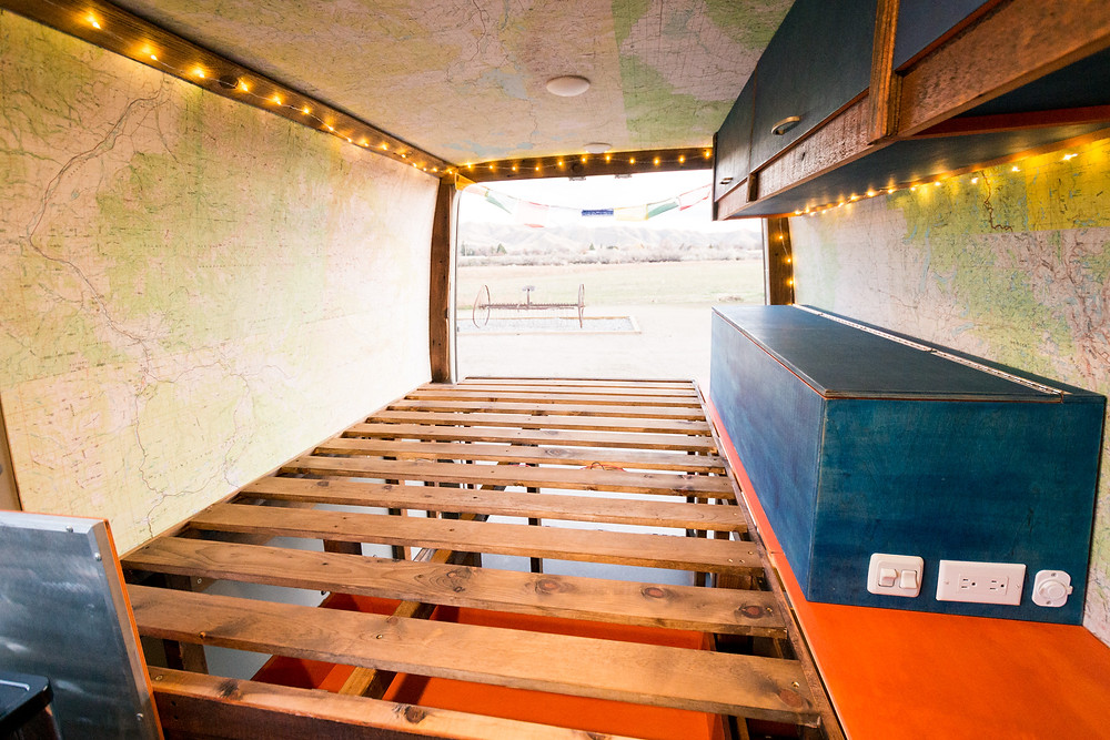 DIY Campervan Conversion with reclaimed and FSC Certified lumber