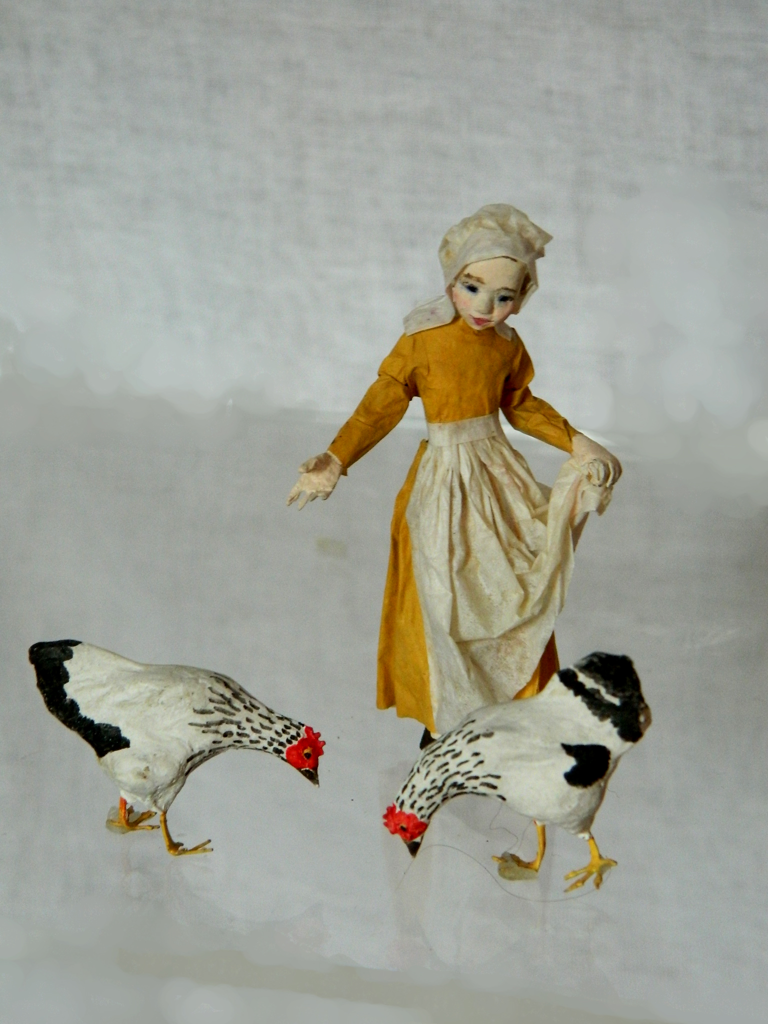 Girl with hens