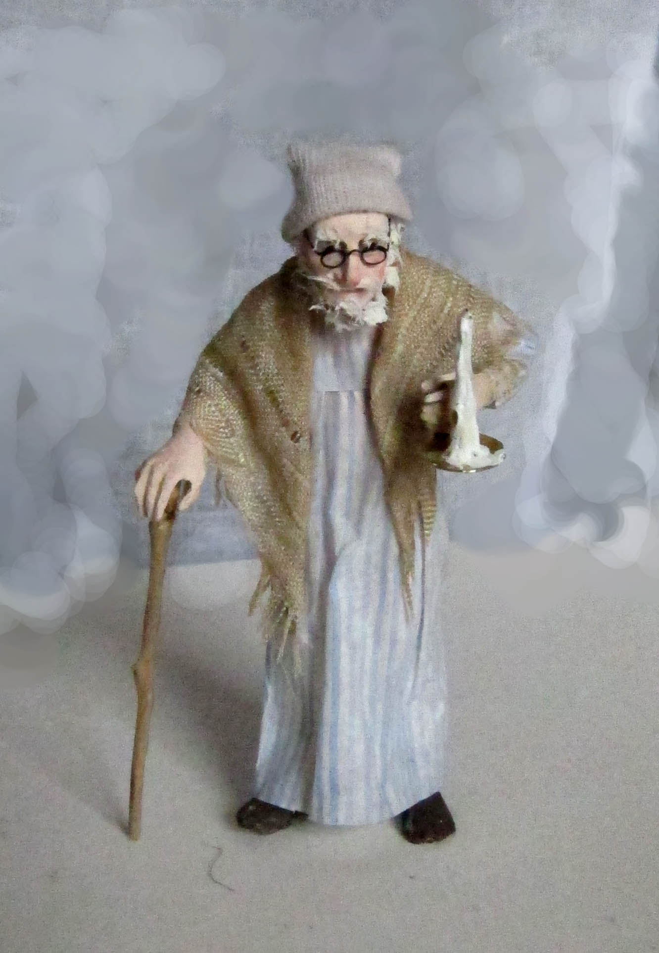 Old man in a nightshirt