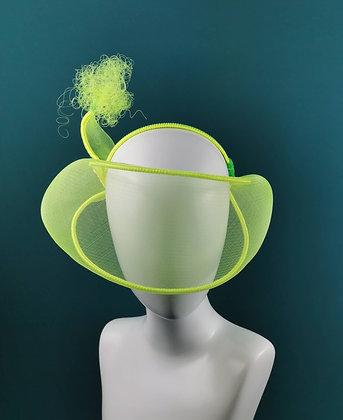 Fascinator Neon Giallo Fosforescente