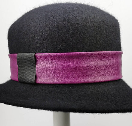 Hatband in Magenta Purple Eco Leather