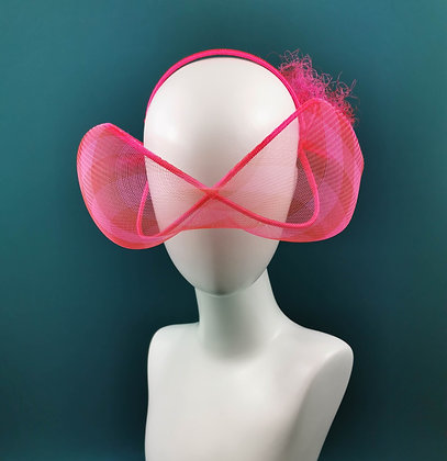 Hot Pink and Red Headpiece - Futuristic Glasses