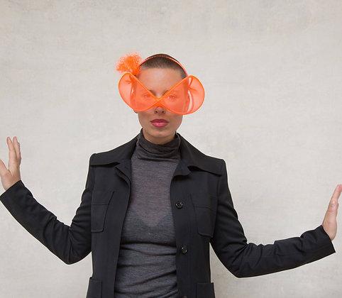 Orange Neon Headpiece - Futuristic Glasses