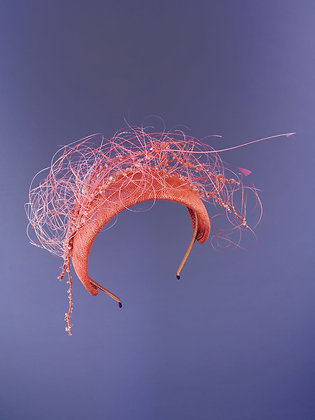 Cerchietto da Cerimonia Rosa Corallo - Seaweed Collection