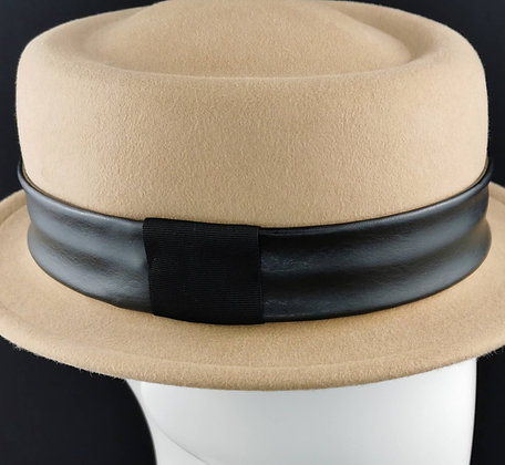 Hatband in Black Eco Leather