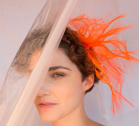 Neon Orange Headband in Crinoline - Summer Vibes Collection