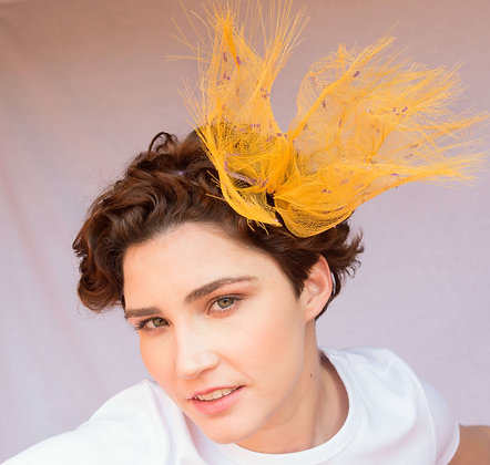 Saffron Yellow and Lilac Headband in Crinolina - Summer Vibes Collection