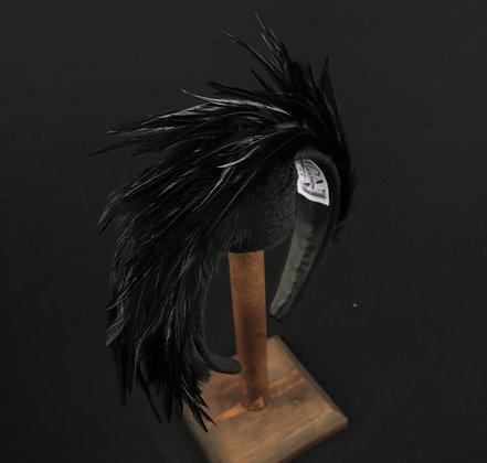 Headband with Black Pheasant Feathers