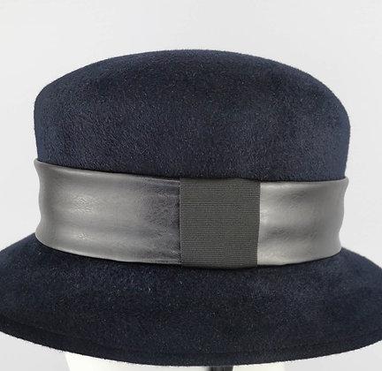Fascia per Cappello in Eco Pelle Nera