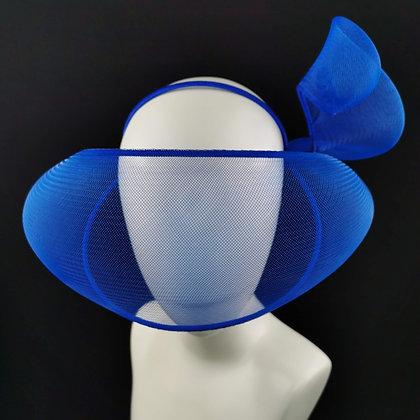 Electric Blue Futuristic Headpiece