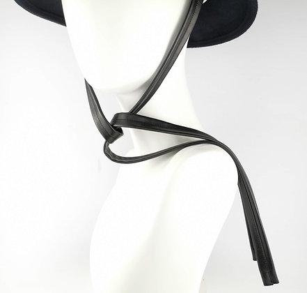Lacci per Cappello in Eco Pelle Nera