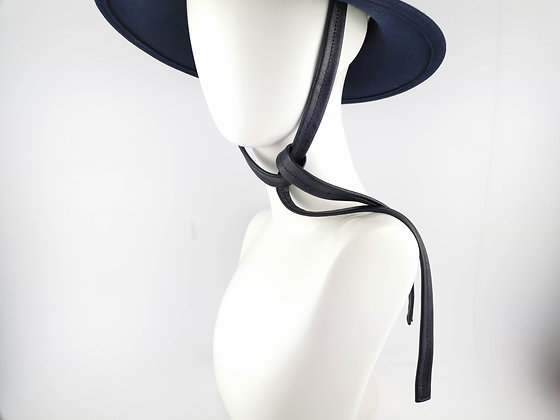 Hat Straps in Navy Blue Eco Leather