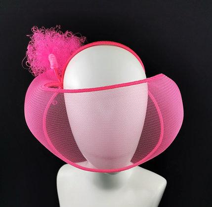 Fascinator Futurista Rosa Neon