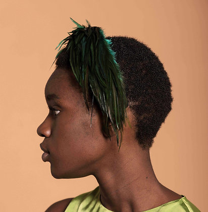 Headband with Green Pheasant Feathers