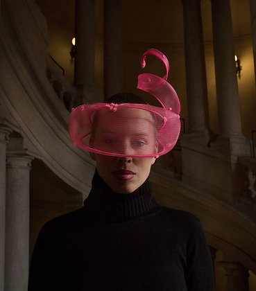 Fascinator Neon Rosa Shocking