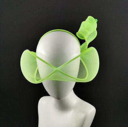 Chartreuse Green Headpiece - Futuristic Glasses