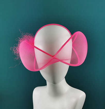 Pink Neon Headpiece - Futuristic Glasses