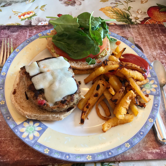 #OwenCooks: Strawberry Bacon Turkey Burgers with Turnip Fries and Homemade Ketchup