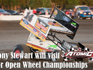 Tony Stewart will join Arctic Cat All Stars during Atomic Speedway's Open Wheel Championships