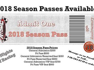 Season Passes Available
