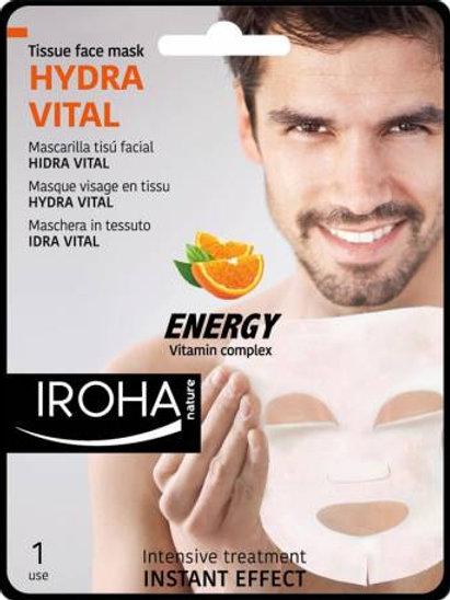 HIDRA VITAL - Vitamin Complex - Mascarilla Facial para Hombre Tisú