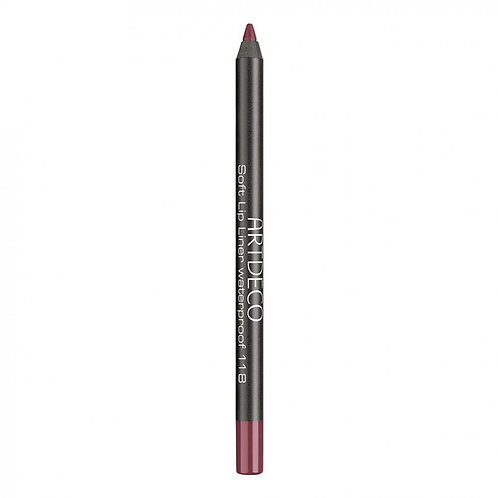 Soft lip liner waterprof garnet red Nº118