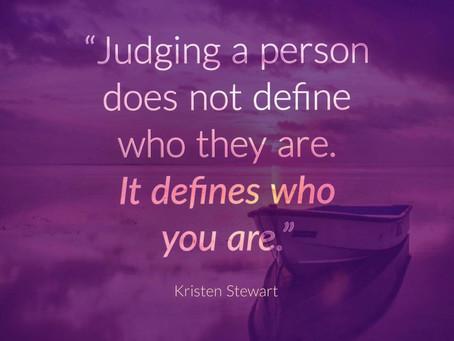 Urteilen schadet auch dir