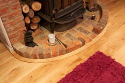Solid oak curved trim