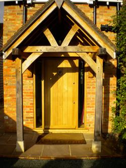Oak front door & Oak porch