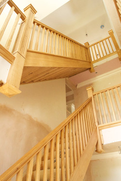 Fitted solid oak staircase
