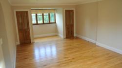 Oak flooring in master bedroom