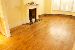 Solid oak floor in HW oil finish