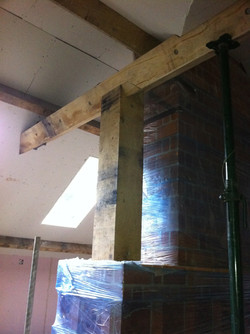 Green oak beam work