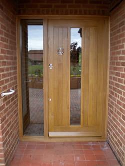 Oak front door & frame