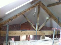 Green oak truss