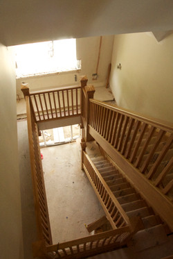 Full view of fitted oak staircase