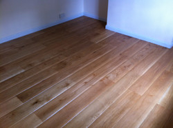 Worn effect solid oak flooring
